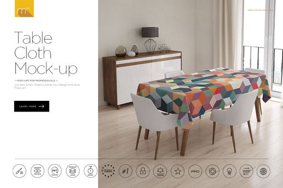 Tablecloth Mock Up By Mesmeriseme 3d On Creativemarket Table Cloth Table Bedroom False Ceiling Design