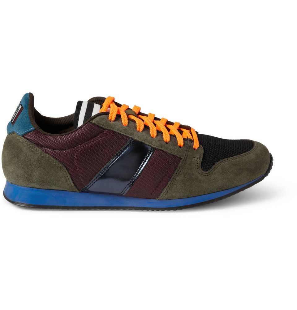 AMI - Suede and Mesh Sneakers