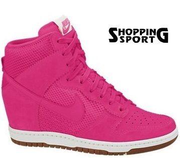 Scarpe Nike Dunk Sky Hi Rosa Pink Fucsia White Bianco Art. 579763 600 NUOVE 2013 €74.00