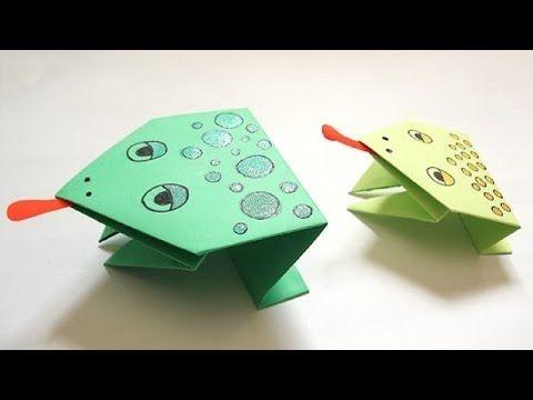 origami facile grenouille youtube. Black Bedroom Furniture Sets. Home Design Ideas