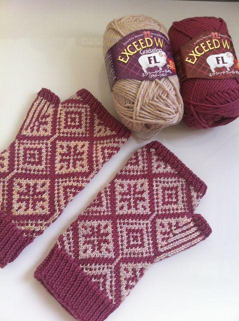 Ravelry: staq's Fairisle Fingerless Mitts | hand knitted ...