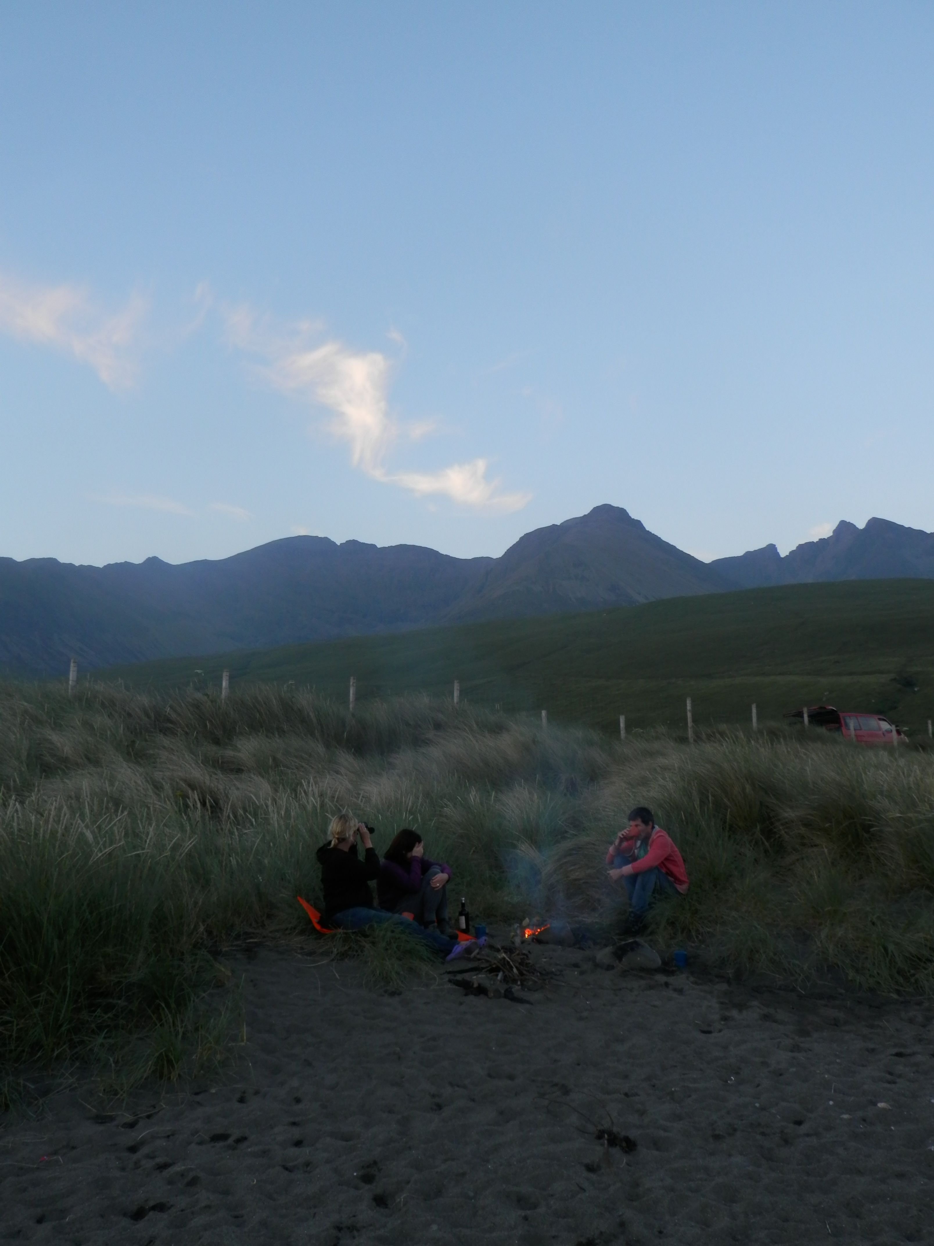 The View Of The Black Cuillin Skye From Our Campsite