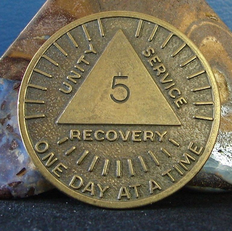 Recovery AA NA CA One Day at a Time Recovery Medallion tokens sobriety Serenity