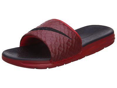 b7e0b8479 Nike Benassi Solarsoft Slide 2 Mens 705474-600 Red Black Slides Sandals  Size 11