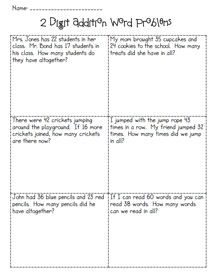 Addition Word Problems Pdf 2nd Grade Math Worksheets Addition Words 2nd Grade Worksheets