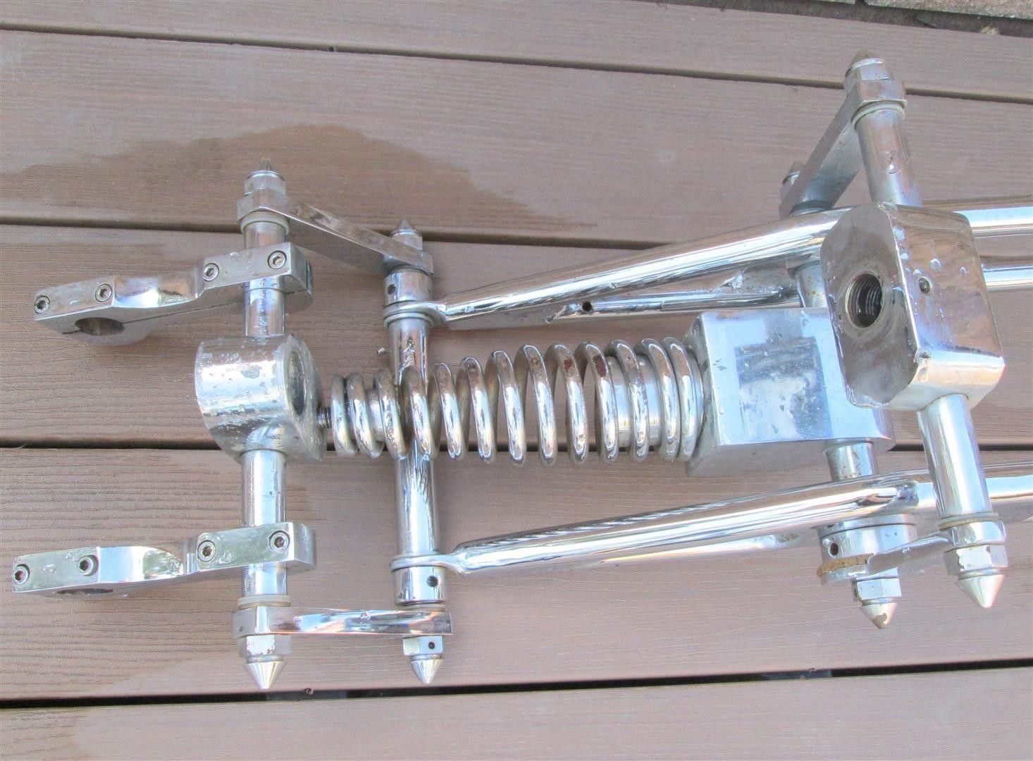 Vintage Motorcycle Extended Fork Springer Front End Girder Harley Indian Triumph | eBay