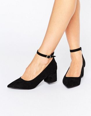 2ae4399f566 Oasis Pointed Block Heel With Ankle Strap | shoes | Pointed block ...