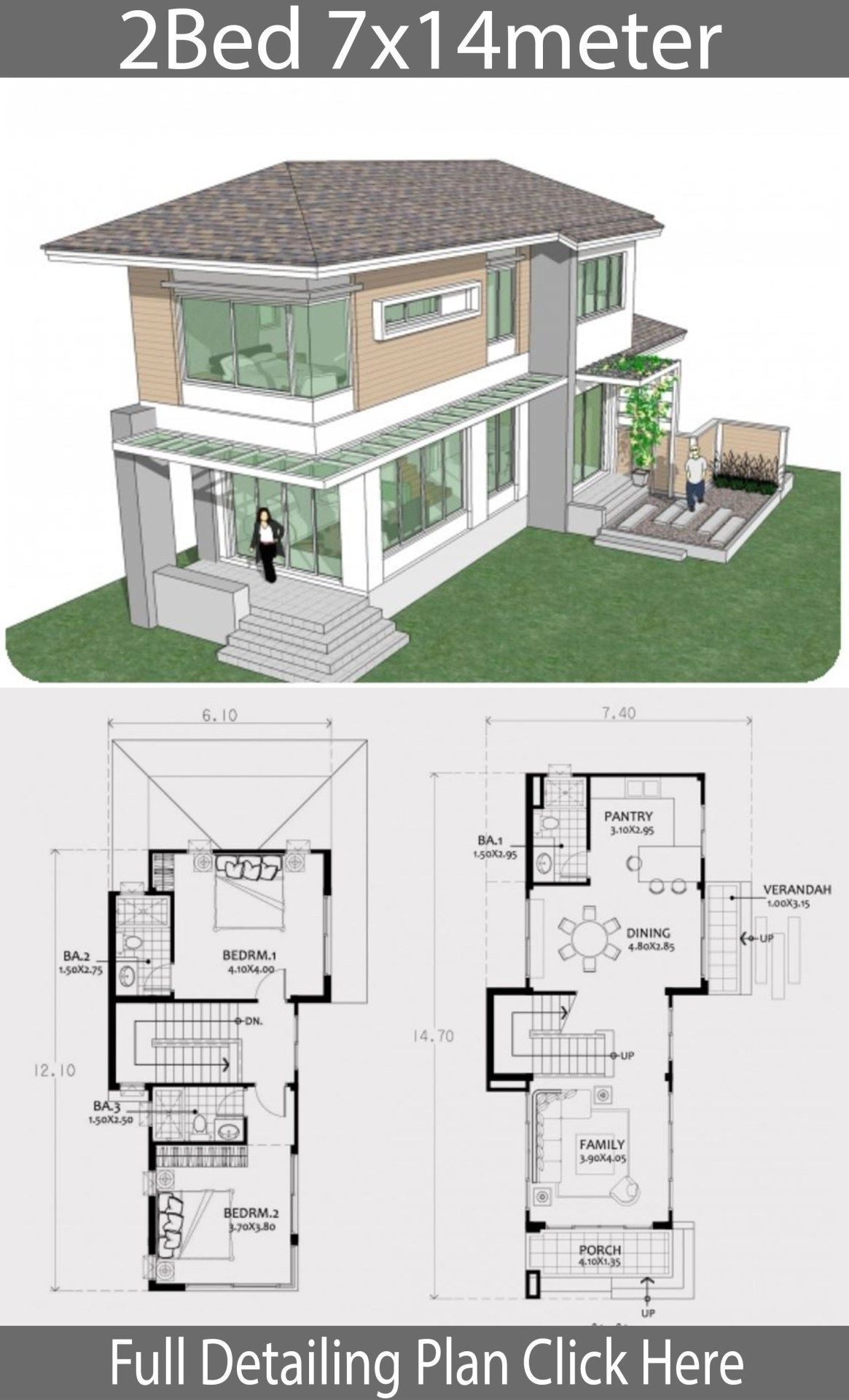 Modern Two Storey House Designs 2020 Two Story House Plans Two Story House Design House Layout Plans