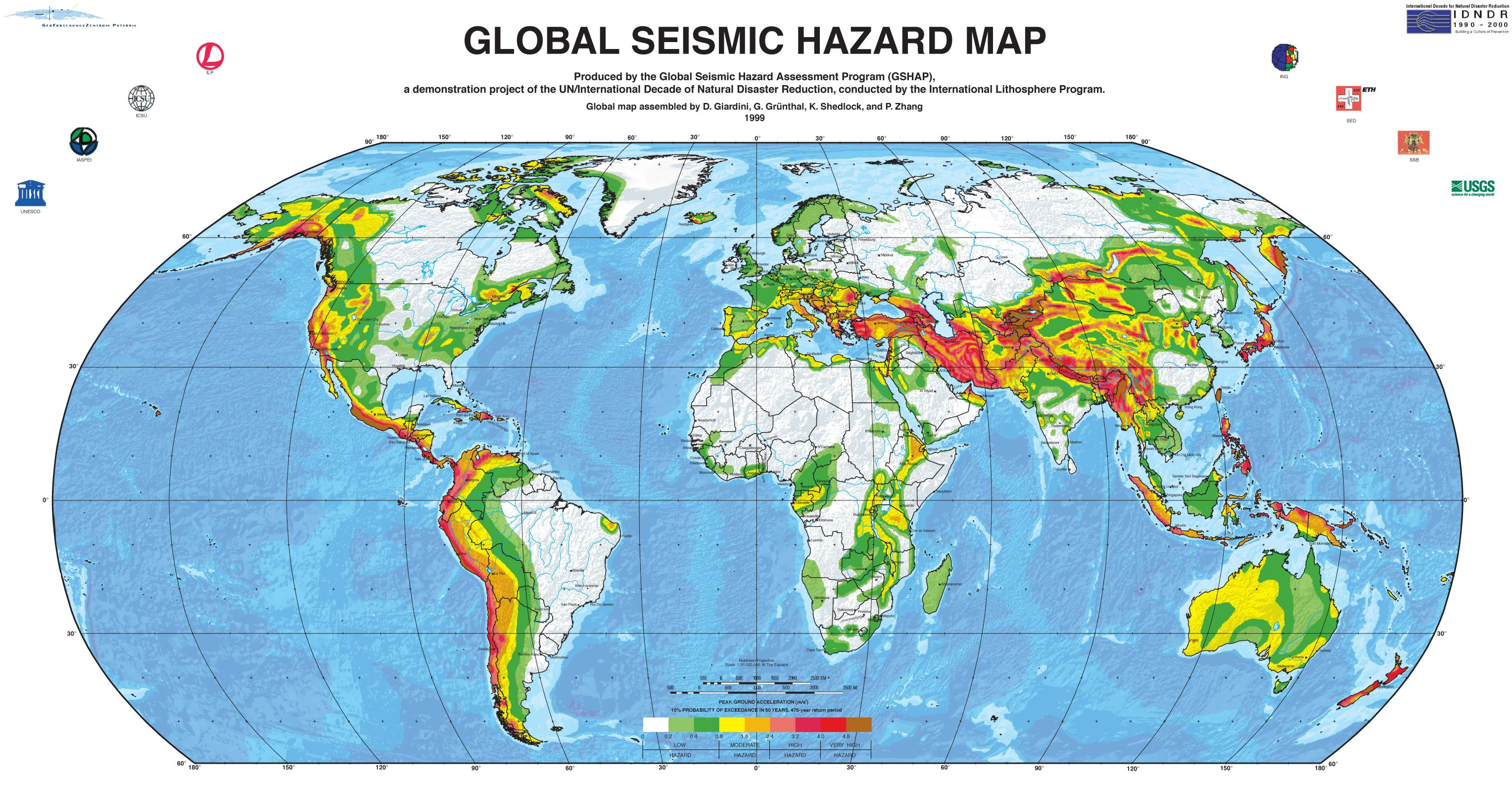 Science And Technology Major Fault S In The US Versus The - Seismic map of us