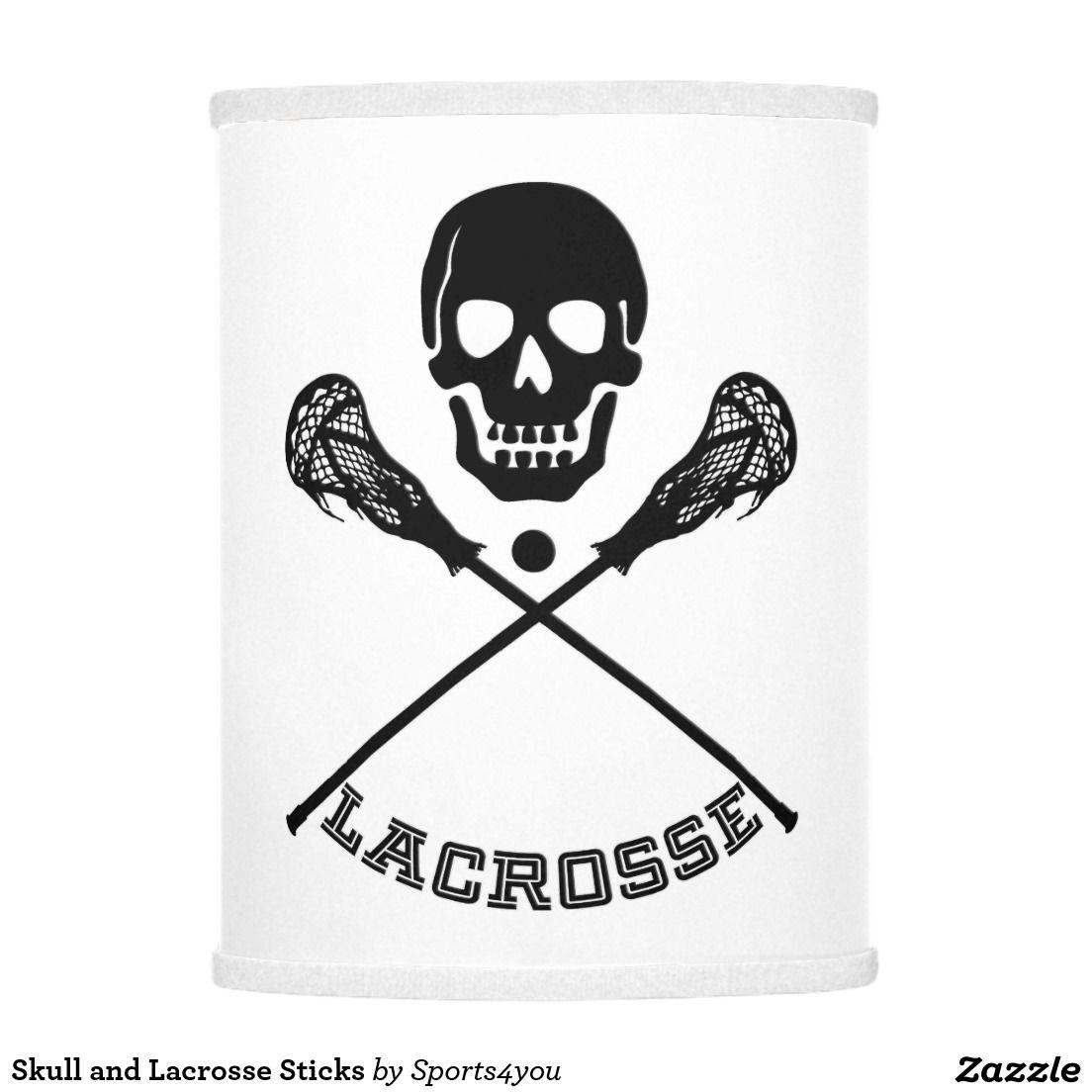 Skull And Lacrosse Sticks Lamp Shade Zazzle Com Wall Graphics Lacrosse Sticks Lamp Shade [ 1104 x 1104 Pixel ]