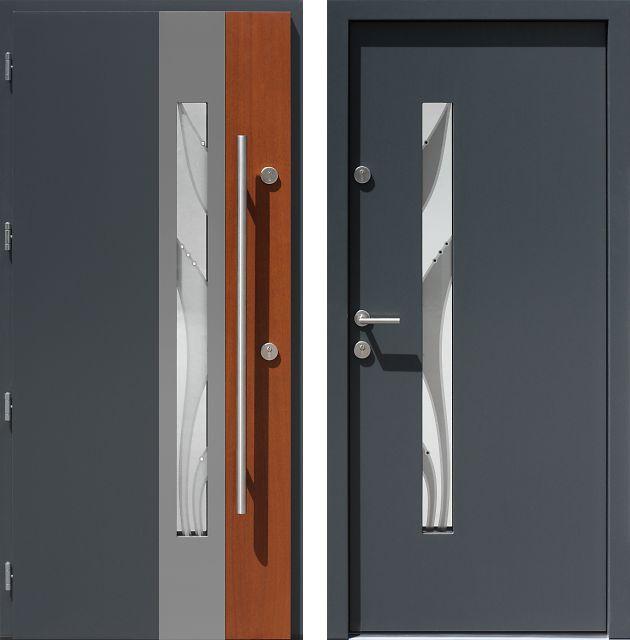 Drzwi wejściowe do domu z katalogu inox wzór 454,5-454,15