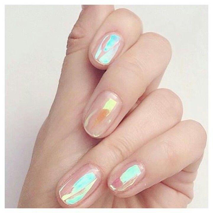 Iridescent Nails | Nail Art | Pinterest | Iridescent, Nail bar and ...