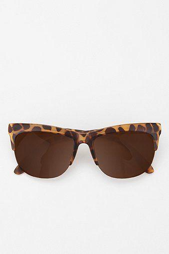 High Brow Rimless Rectangle Sunglasses $9.99
