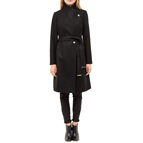 cheap buy online really comfortable Ted Baker Aurore Long Wrap Collar Coat, Bright Blue   Coat, Ted ...