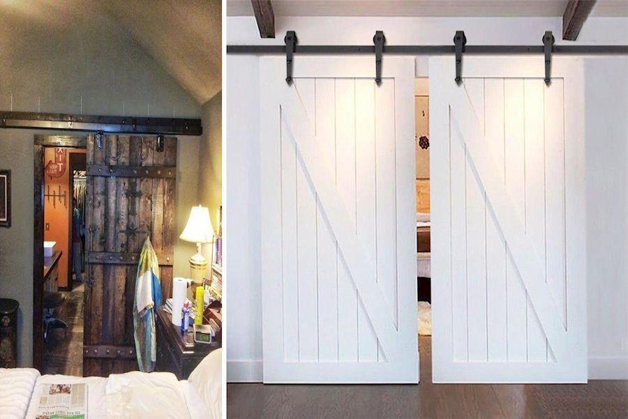 Internal Bifold Doors White Double Sliding Interior Barn Doors