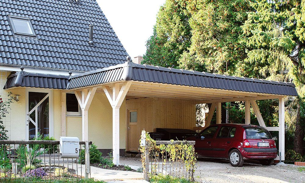 carport vor dem haus google suche carport pinterest haus. Black Bedroom Furniture Sets. Home Design Ideas