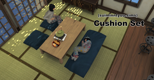 Update Sims4 Floor Cushion Set Sims Sims 4 Sims 4 Custom Content