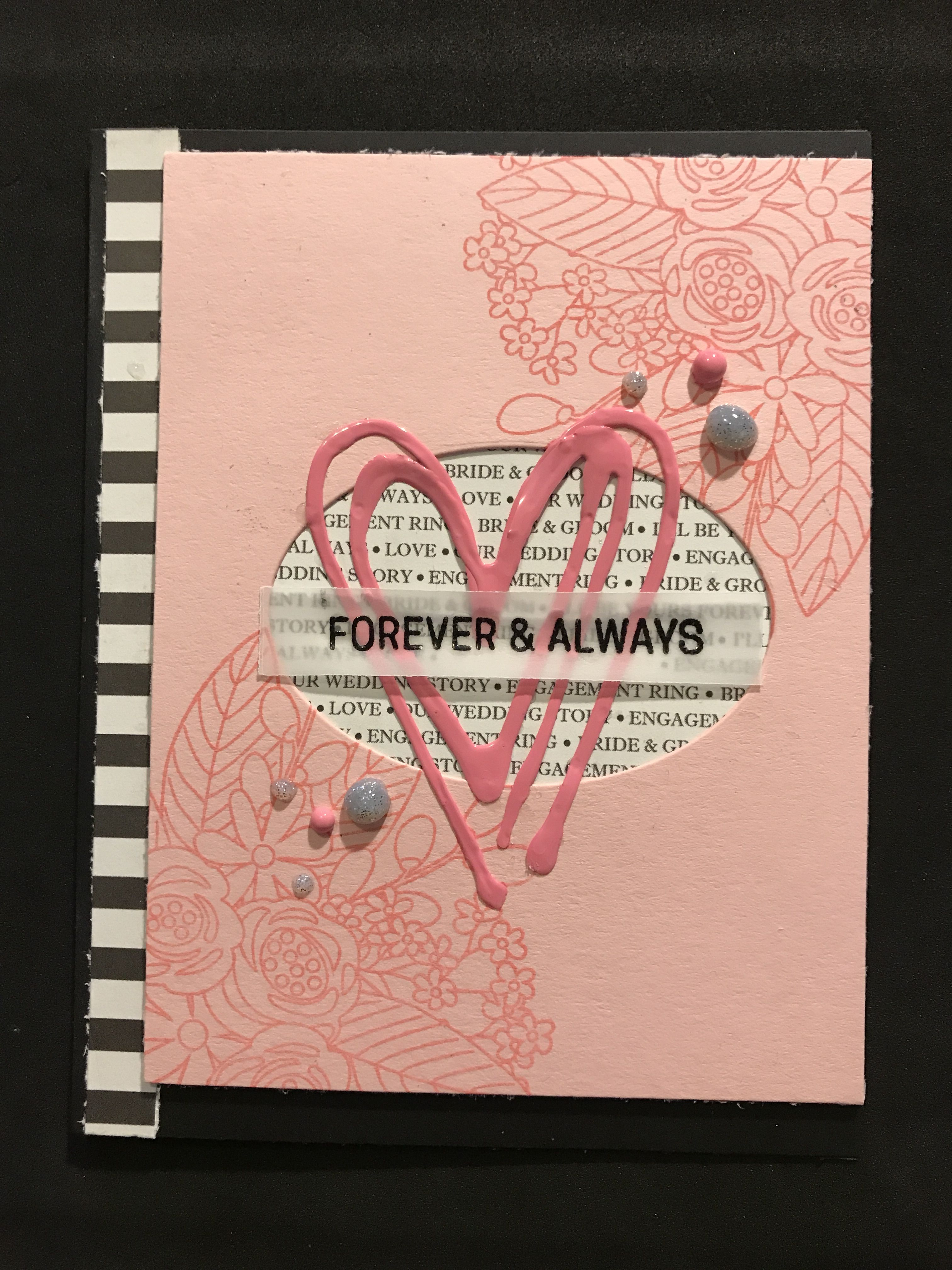 Forever and Always wedding card using the Simon Says Stamp June 2017 ...
