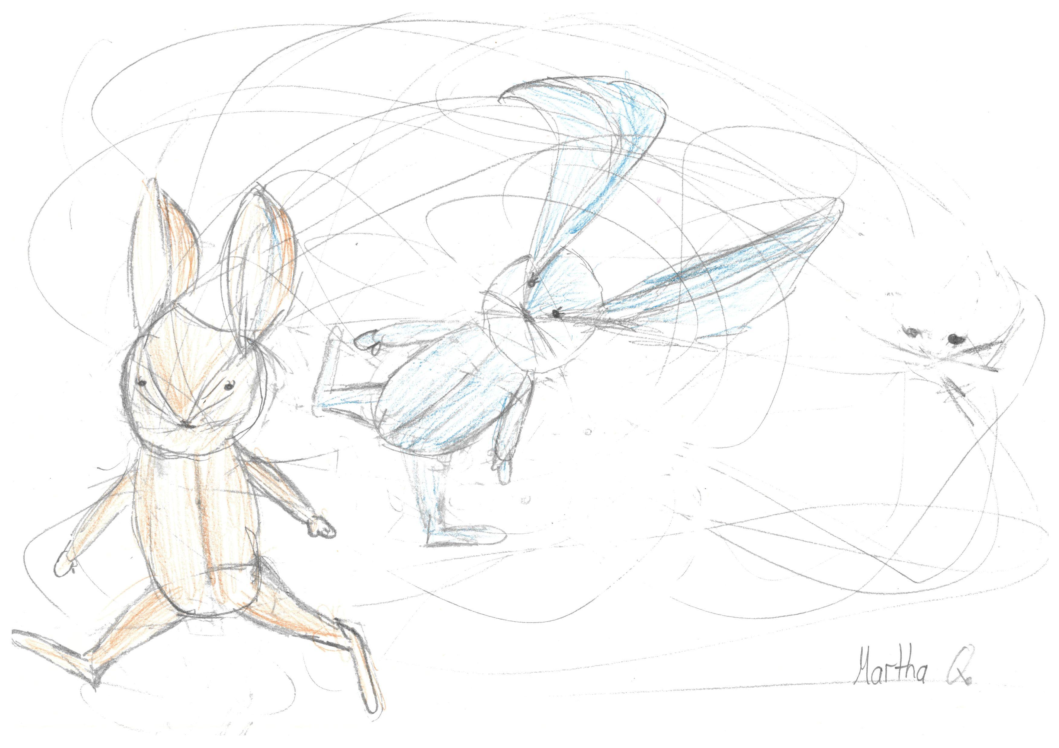 Wild drauf los zeichnen und schauen, was man gezeichnet hat...