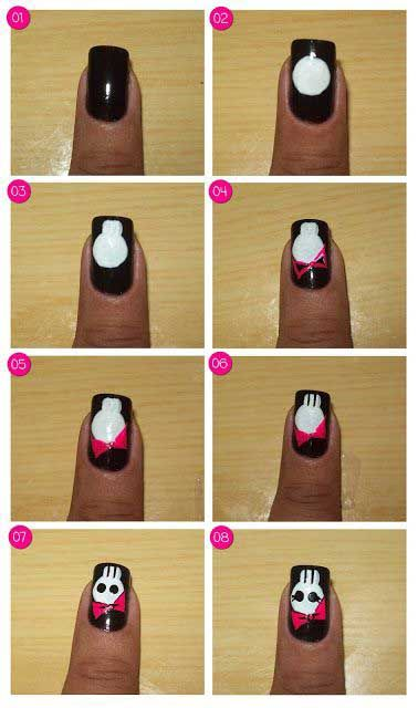 Easy Halloween Nail Art Tutorials 2019 Step By Step Halloween Nails Easy Halloween Nail Art Tutorial Halloween Nail Art Easy