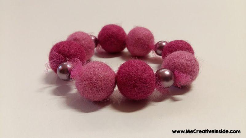 tutorial diy bracciale lana cardata feltro ME creativeinside