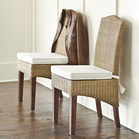 Simone Wicker Chairs Ballard Designs For Banquette Wicker