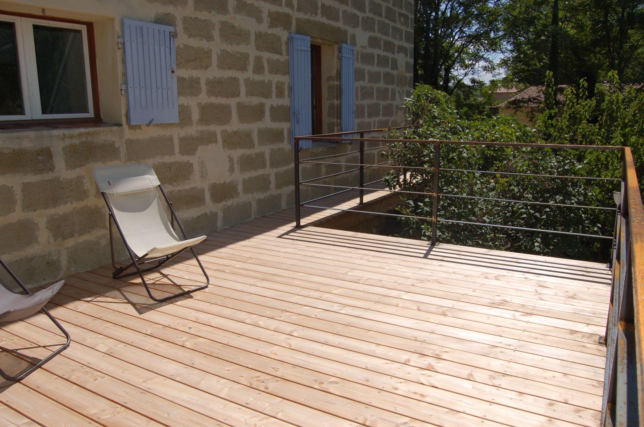 Maison Avec Passerelle Intérieure terrasse sur piloti avec passerelle | terrasse bois