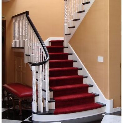 Bottom Of Indoor Stair Cases With Wider Bottom Steps