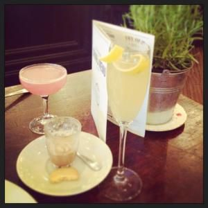 Brunch Cocktails at the Alice House in London