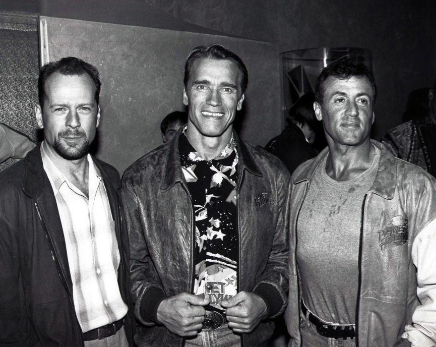 Bruce Willis, Arnold Schwarzenegger and Sylvester Stallone ...  Bruce Willis, A...