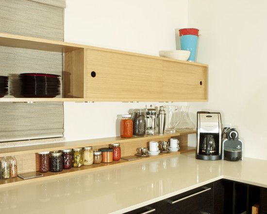 Kitchen Designs: Stunning Contemporary Kitchen Kitchen Wall Shelving ...