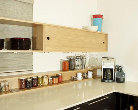 Kitchen Designs: Stunning Contemporary Kitchen Kitchen Wall Shelving ...