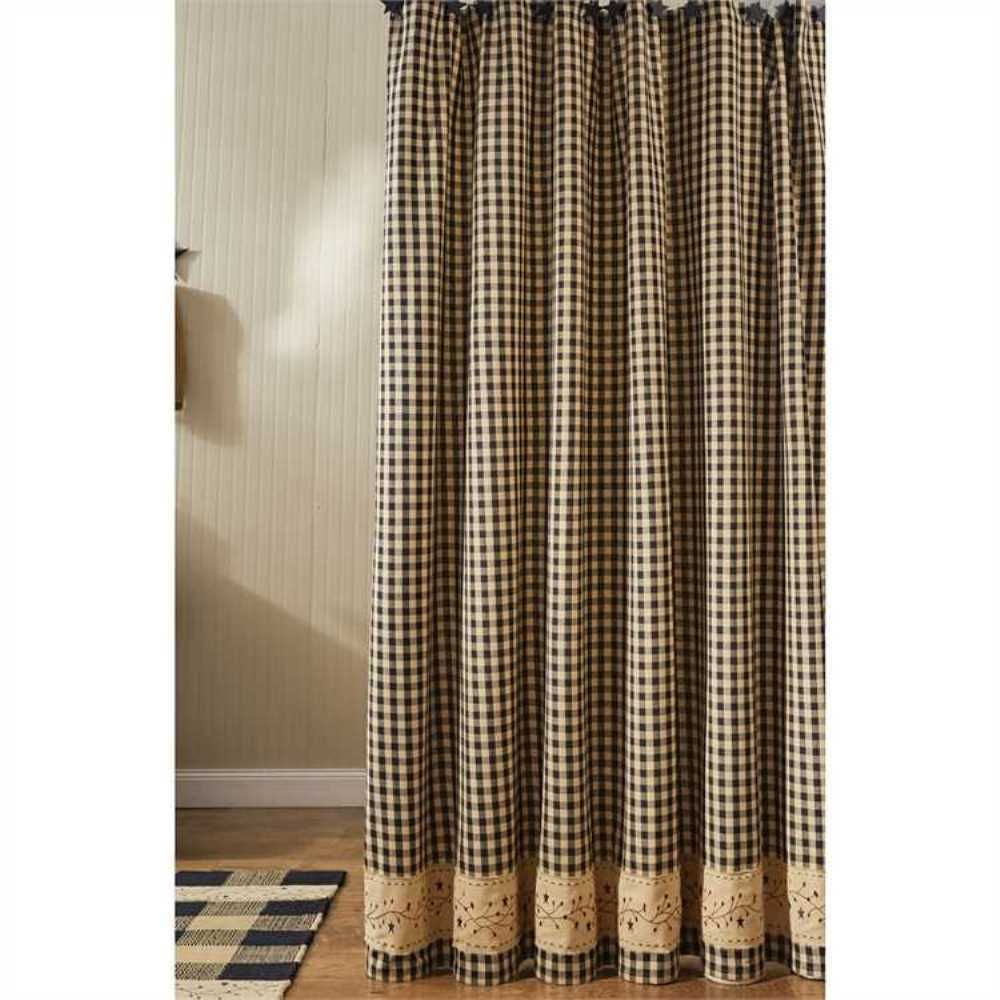 Ebay Sponsored Country Berry Gingham Shower Curtain 72x72 Cotton