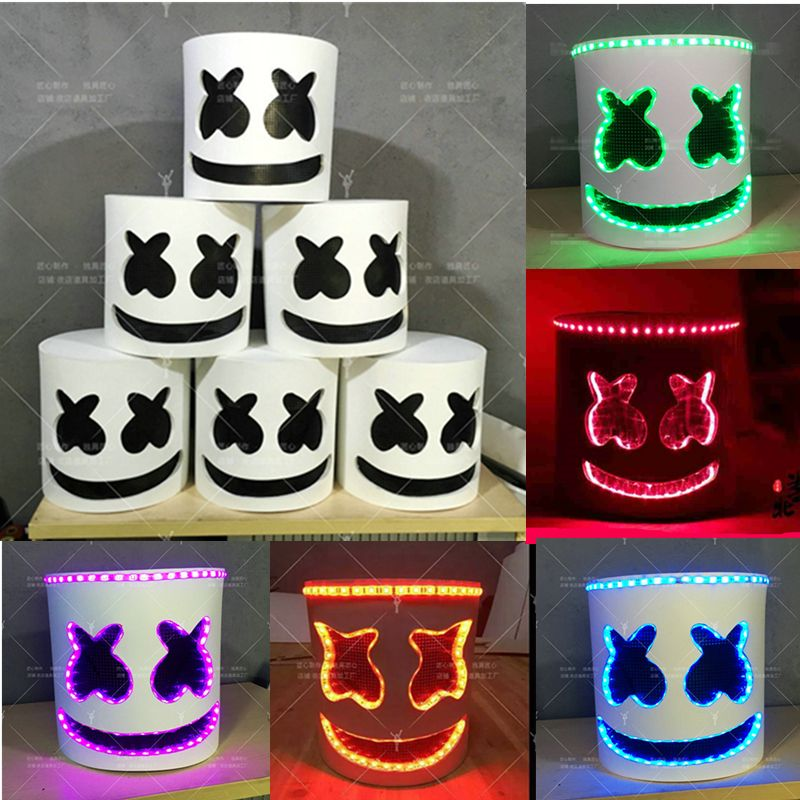Led Lumiere Marshmello Dj Masque Cosplay Casque Halloween Prop Dj Masques Party Props Costume C 7th Birthday Party Ideas Diy Costumes Kids 6th Birthday Parties