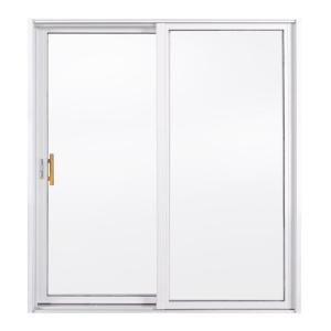 Jeld Wen 72 In X 80 In A 200 Series Bronze Painted Aluminum Left Hand Full Lite Sliding Patio Door 8b6115 The Home Depot Sliding Patio Doors Patio Doors Aluminium Patio Doors
