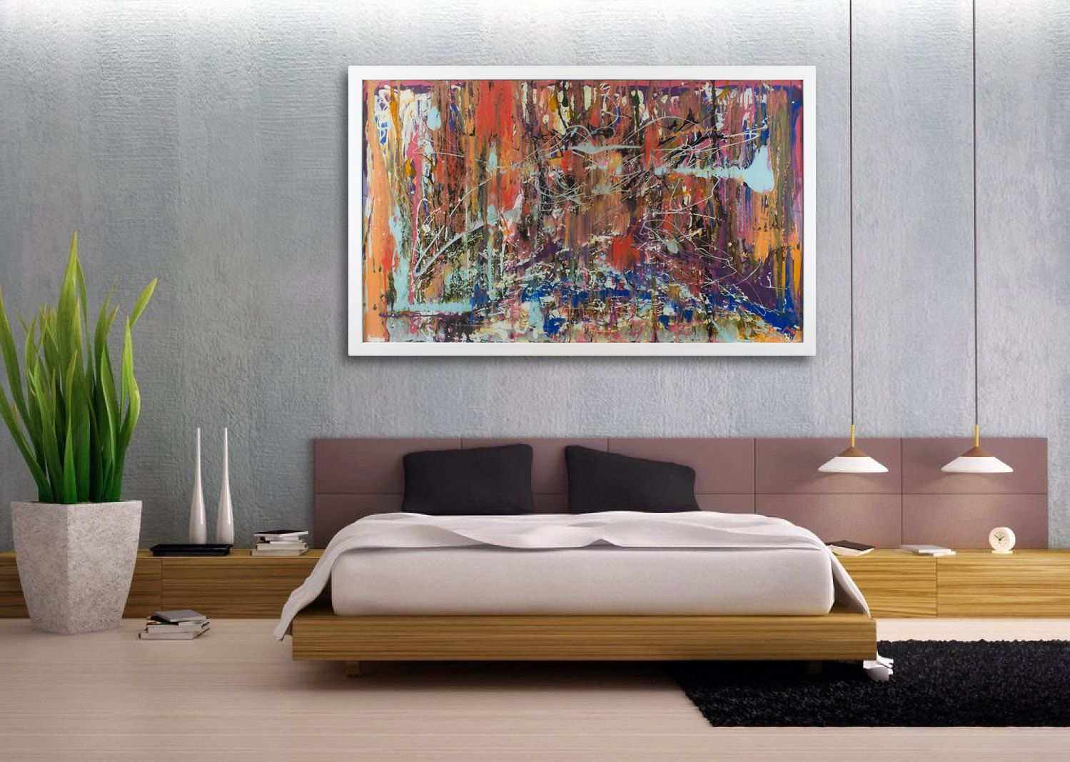 Extra Large Abstract Wall Art With Lighting Extra Large Etsy Modern Wall Decor Large Abstract Wall Art Room Wall Decor