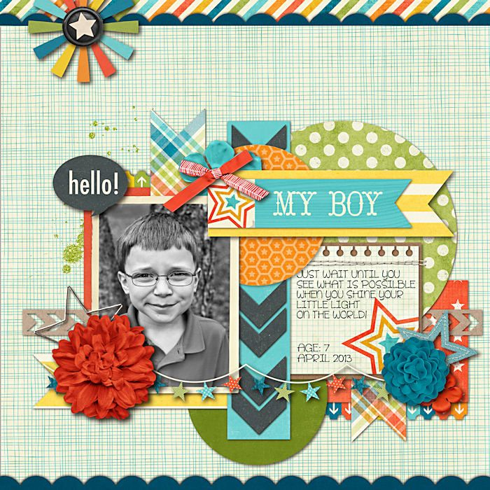 #papercraft #scrapbook #layout My Boy - Scrapbook.com
