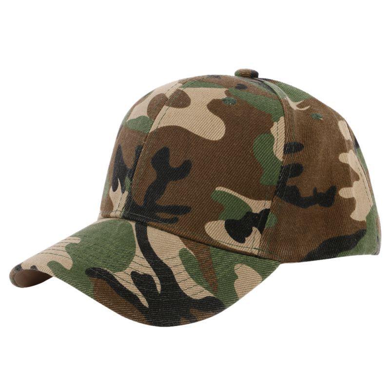 5a0aac09330f0d Vintage Baseball Cap Men and Women Camouflage Half Mesh Army Hat Baseball Cap  Men Desert Jungle Snap Camo Cap Hats
