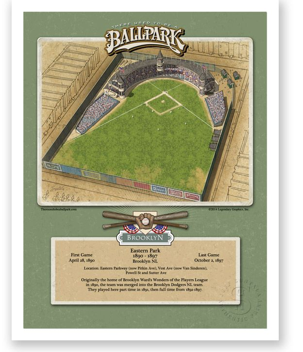 There Used To Be A Ballpark Eastern Park Ballparks Baseball Classic Dodgers History