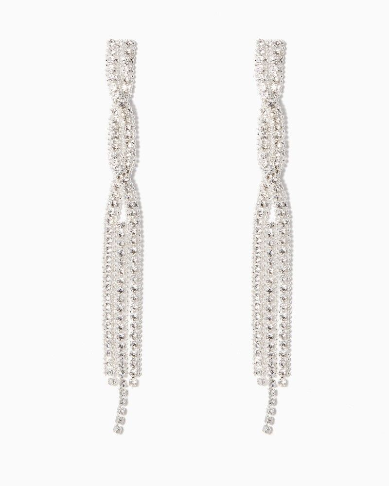 charming charlie Diamond Twist Fringe Earrings UPC