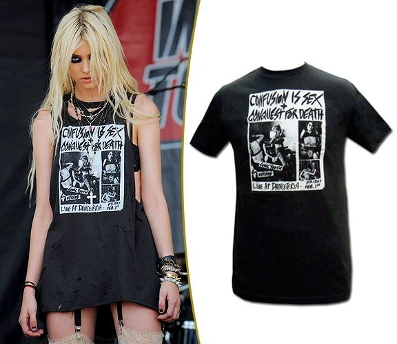 09ce18f5 Taylor Momsen's Sonic Youth T-Shirt, Before And After | Diy clothing ...