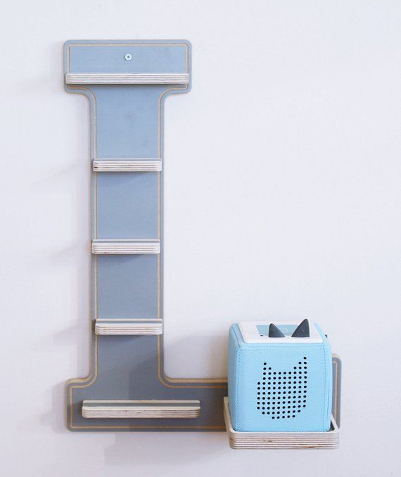 BOARTI Letter L grey - the shelf for the music box