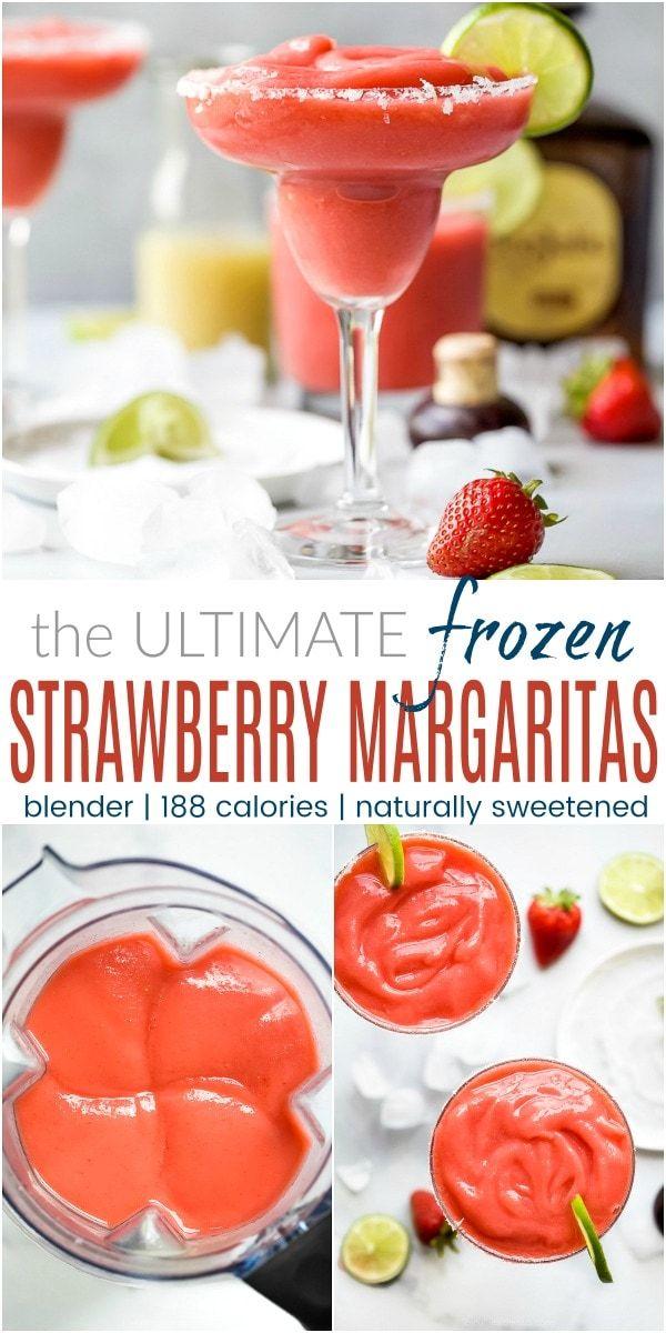 The Ultimate Blender Frozen Strawberry Margarita #frozenmargaritarecipes