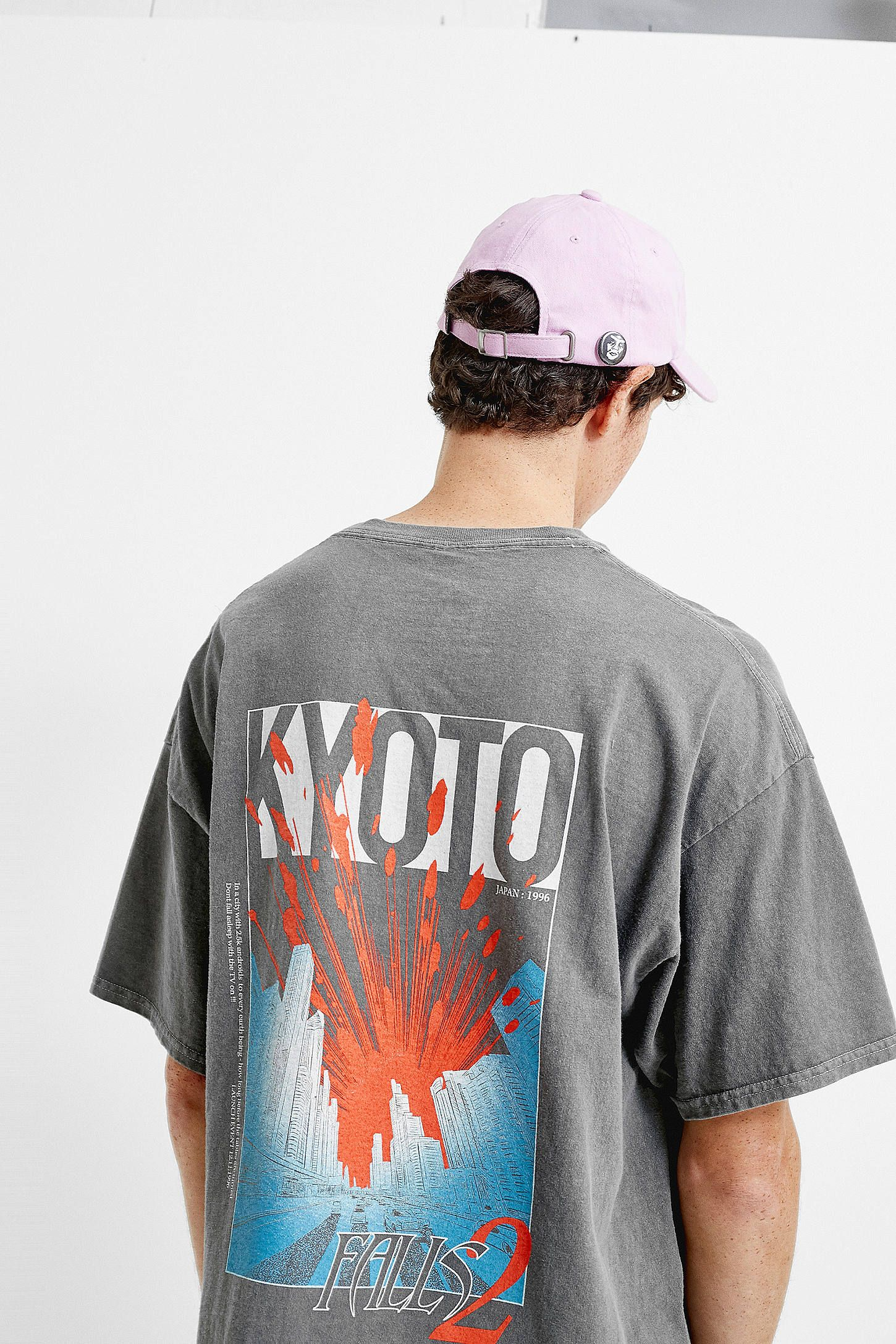 9996b98a5 UO Kyoto Washed Black T-Shirt in 2019 | Tees | Mens tops, Shirts, T ...