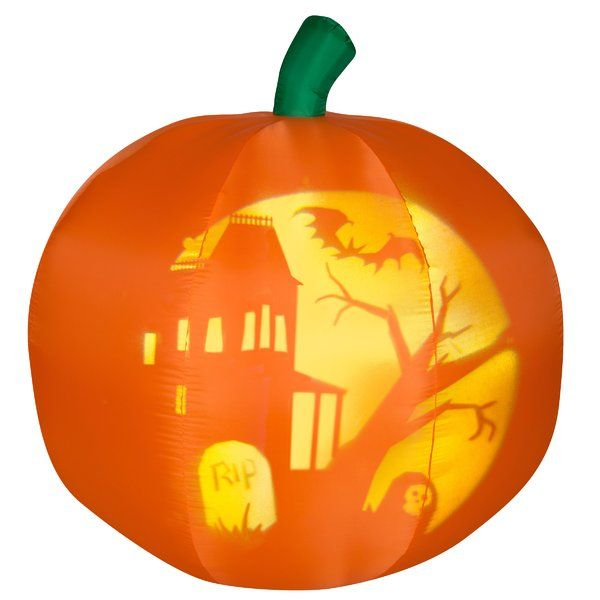 Panoramic Projection Pumpkin Inflatable Halloween scene and Spooky - inflatable halloween decoration