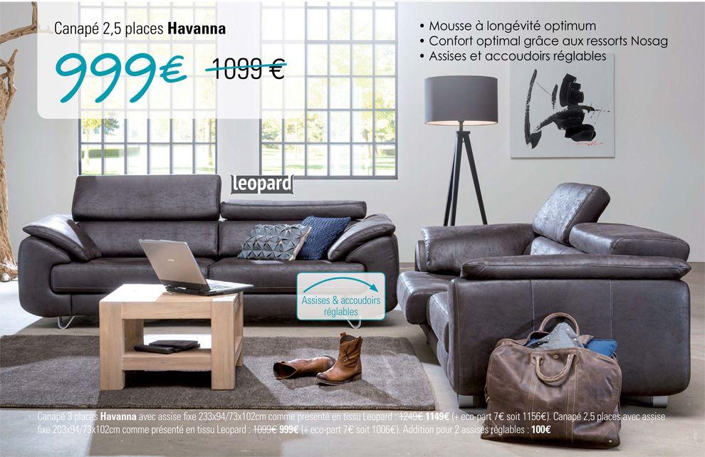 canap 2 5 places havana chez heth village du meuble. Black Bedroom Furniture Sets. Home Design Ideas