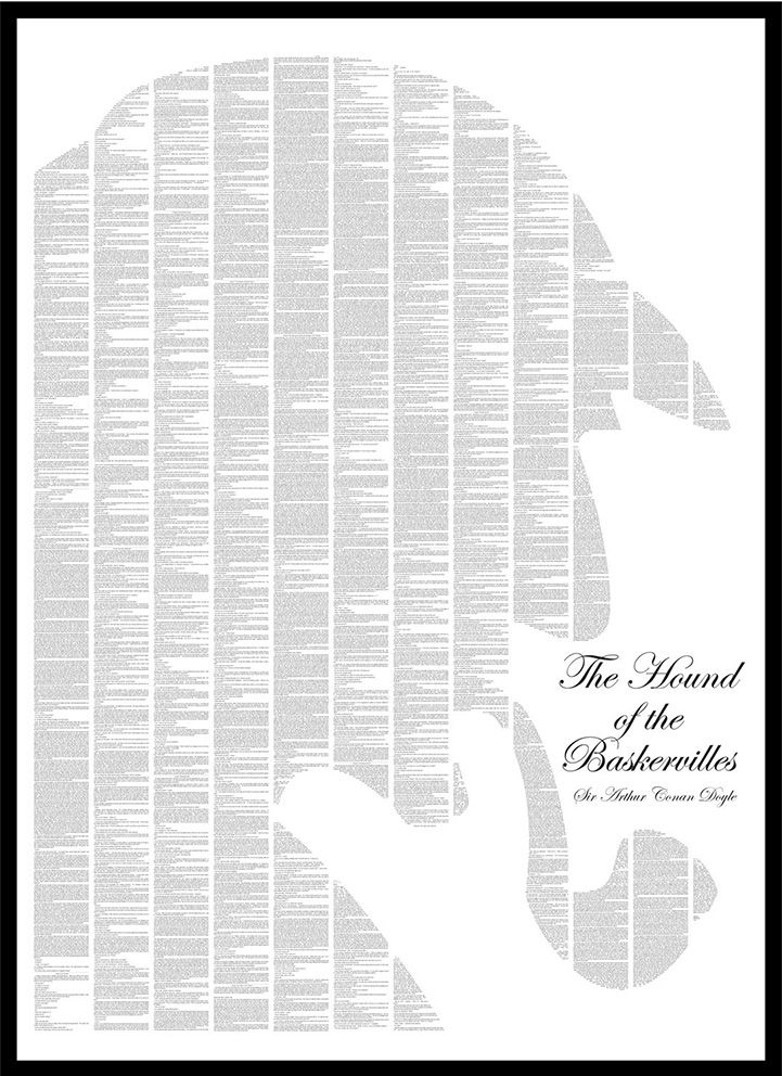 """Text From Classic Books Forms Minimalist Posters - My Modern Metropolis  Publishing company Spineless Classics believes that """"having a great [art]work form part of the backdrop of your life figuratively, shouldn't stop you having it there literally."""" So, the company creates interpretive posters of your favorite stories by using every single word from classic fairy tales and novels as the foundation for their illustrations."""