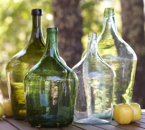 European Large Wine Bottle-Jars (Naked) / Garrafões de Vinho Antigos Europeus (sem Forro de Verga)