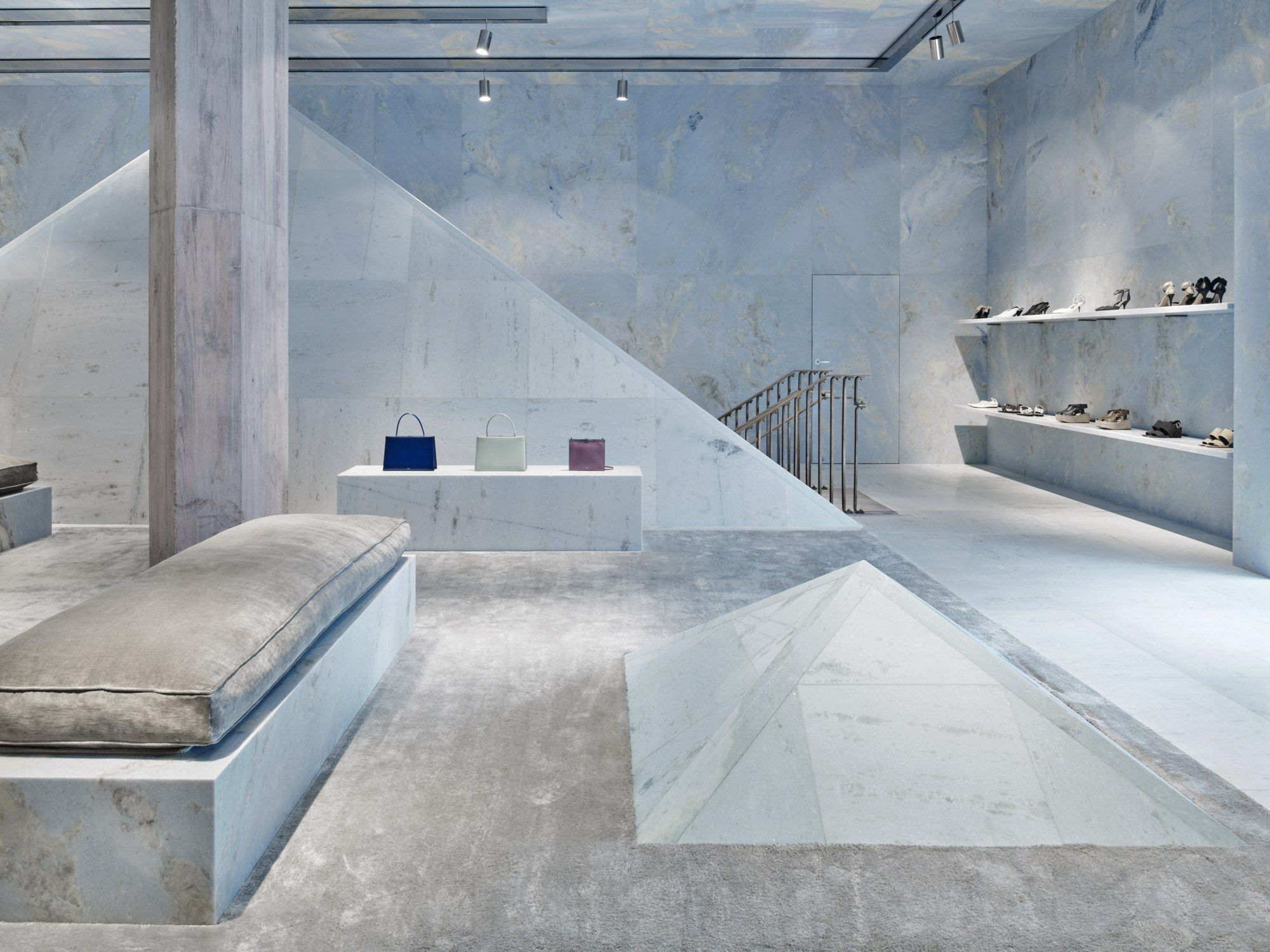 Celine New Flagship Store Is A Blue Marble Universe Store Design