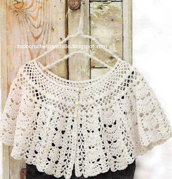 capa calada ganchillo patrones | Crochet y Dos Agujas | Pinterest ...